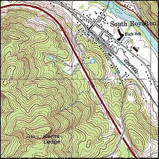 small pic of Kent's Ledge from a USGS map