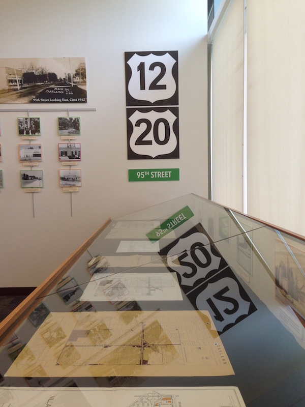 route 20 signs in Illinois library