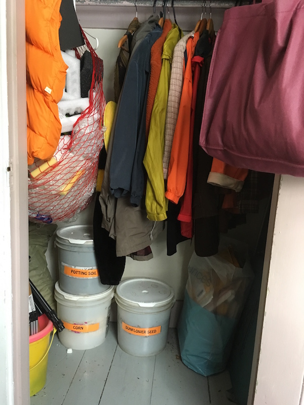 photo of a closet, well-organized