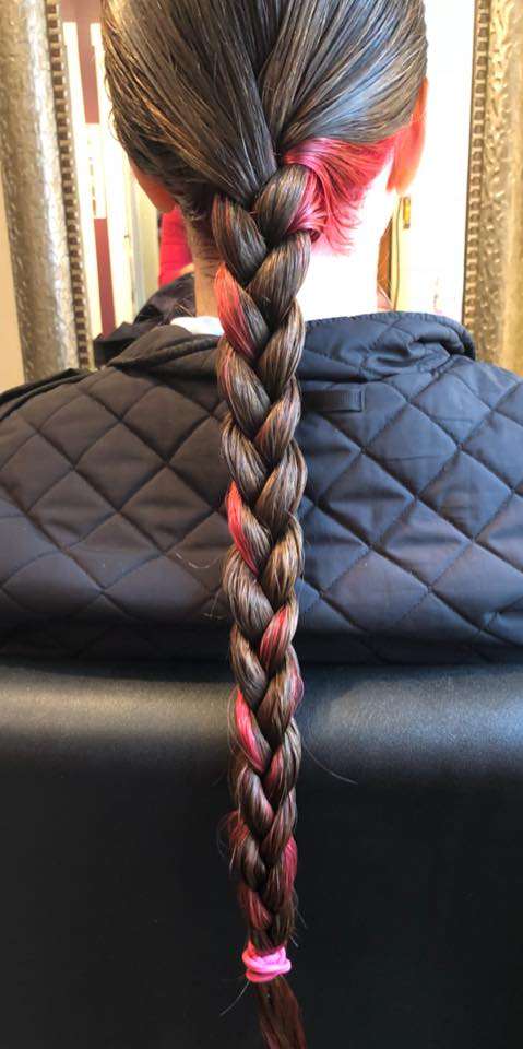 image of a braid as seen from the back