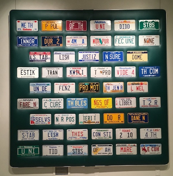 the constitution spelled out in license plates of every state